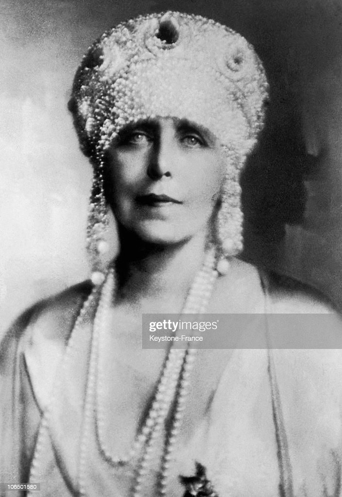 Portrait Of Ex-Queen Marie Of Romania In 1927 : News Photo