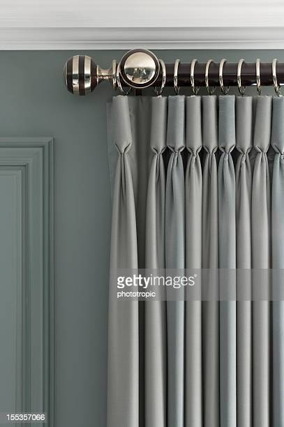 exquisite grey-green curtains