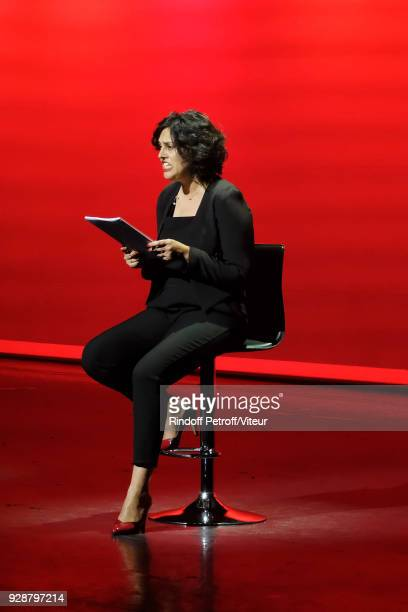 ExSecretary of works Myriam El Khomri performs Les Monologues du Vagin during 'Paroles Citoyennes 10 shows to wonder about the society' at Bobino on...