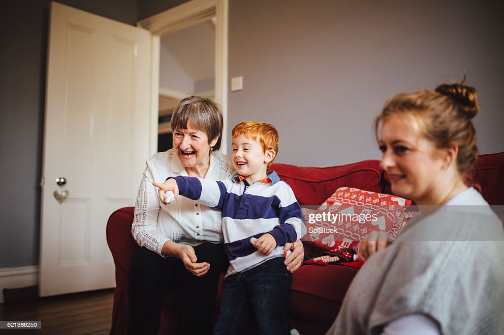 Extended Family at Home Together : Stock Photo