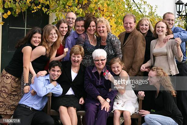 extended family group fun - family reunion stock pictures, royalty-free photos & images