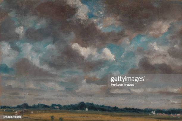 Extensive Landscape with Grey Clouds;Study of clouds over a wide landscape;Study of Clouds over a Wide landscape, ca. 1821. Artist John Constable. .