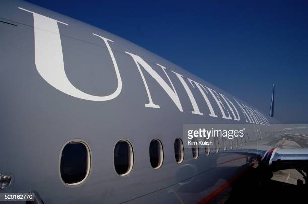 Exterior a United Airlines Boeing 777
