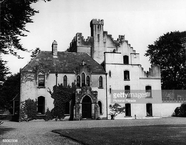 Exterior and front entrance of 'Barretstown Castle' a 500 acre estate owned by Canadianborn beautician and cosmetics entrepreneur Elizabeth Arden...