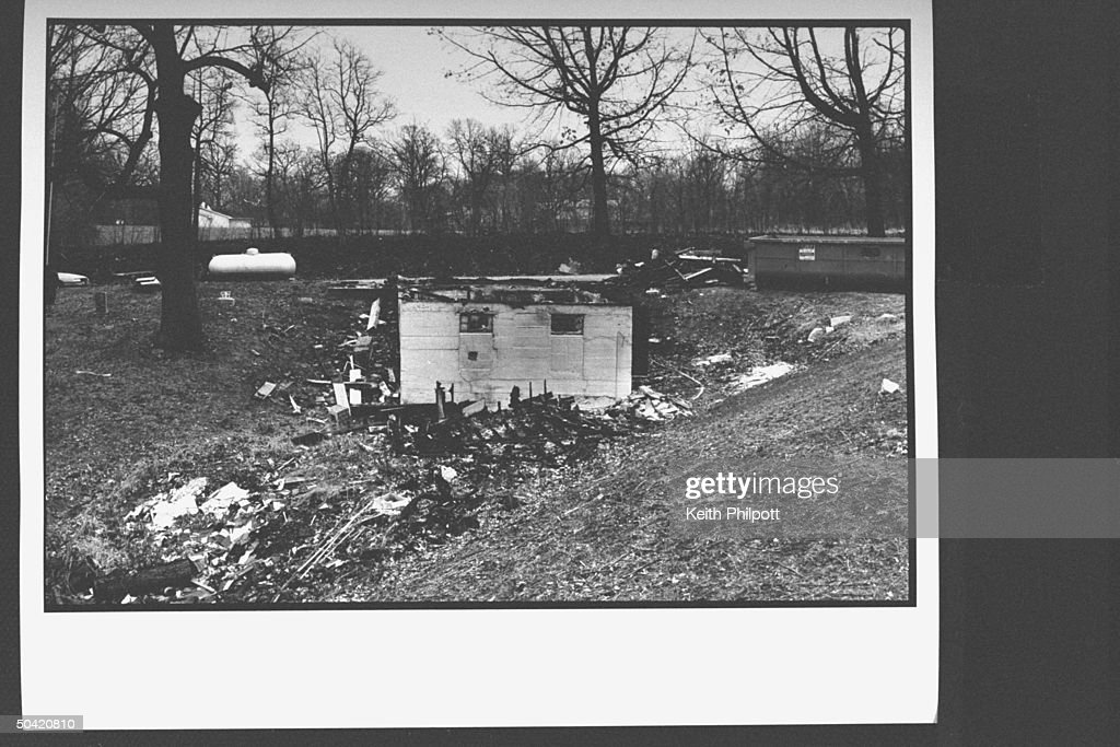 Exterior and grounds of the remains of t : News Photo