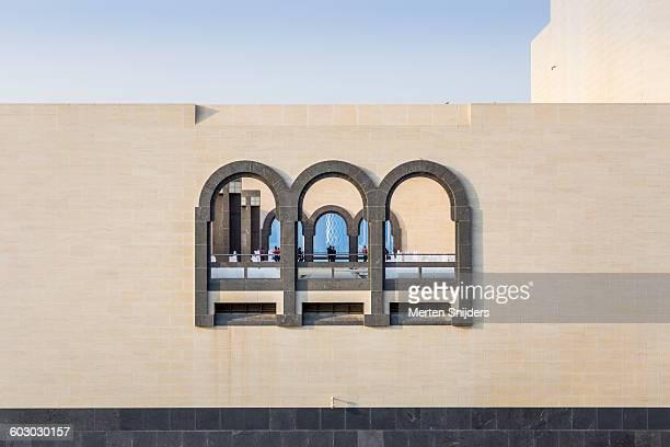 Exterior arches of museum scenic platform
