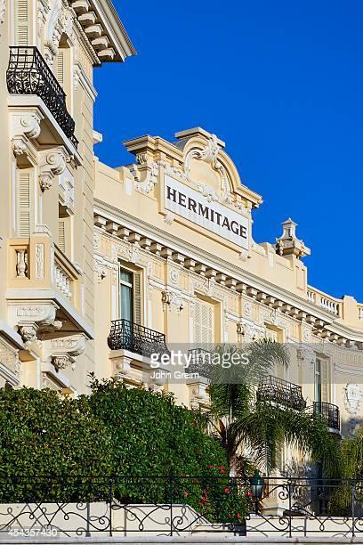 Exterior architecture of the Hôtel Hermitage Monte-Carlo.