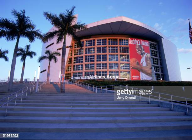 Exterior center view of American Airlines Arena on December 14 2004 in Miami Florida American Airlines Arena is home of the NBA Miami Heat
