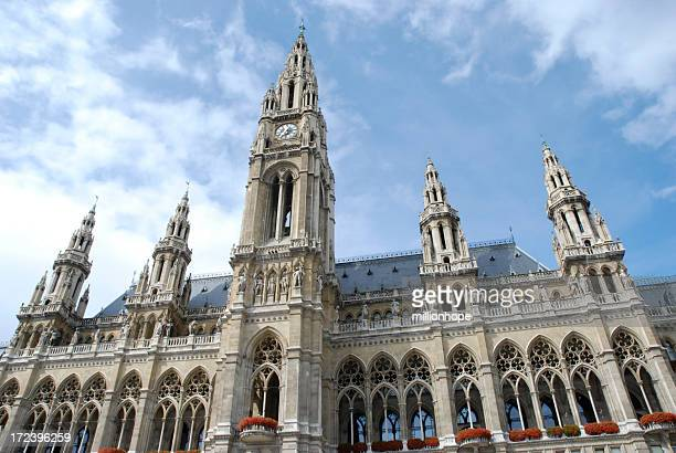 Exterior City hall of Vienna cathedral on sunny day