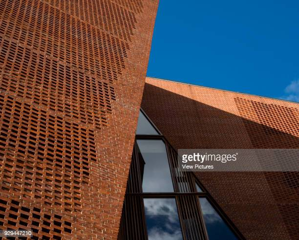 Exterior detail of brickwork London School Of Economics Saw Swee Hock Students' Centre London United Kingdom Architect O'Donnell Tuomey 2015