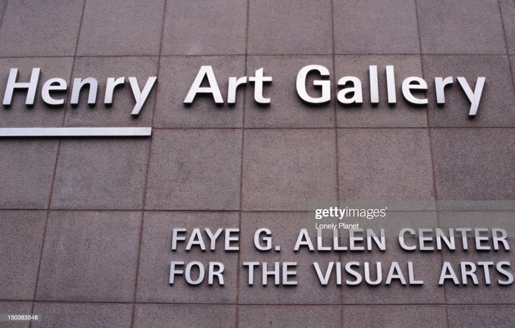 Exterior detail of the Henry Art Gallery at the University of Washington. : Stock Photo
