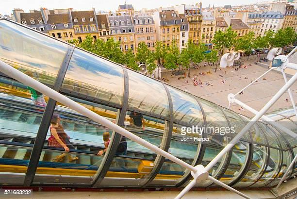 Exterior Escalator at Pompidou Centre