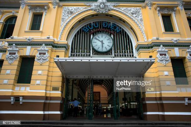 Exterior facade of Ho Chi Minh City Central Post Office The name it receives in the Vietnamese language is Bu in trung tâm and was built at the end...