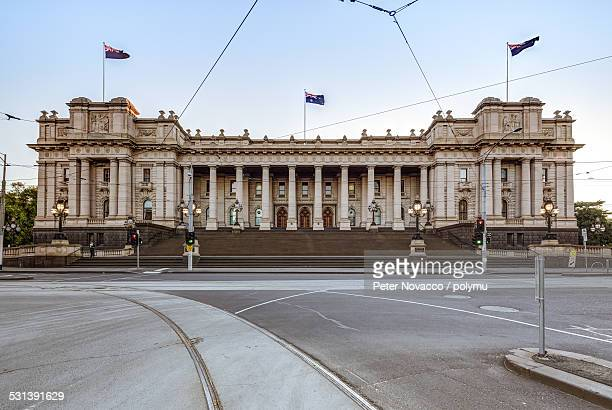 Exterior Facade of Parliament House in Melbourne