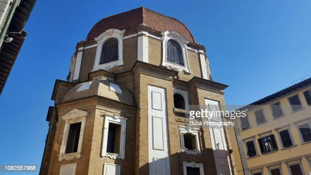 exterior facade of the medici chapels, near the basilica of san lorenzo, florence, italy - lorenzo il magnifico stock pictures, royalty-free photos & images