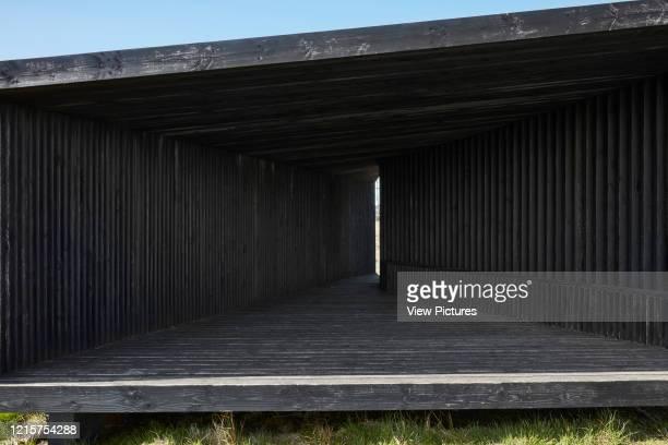 Exterior facade. Specere Kielder, Hexham, United Kingdom. Architect: Adjaye Associates, 2009..