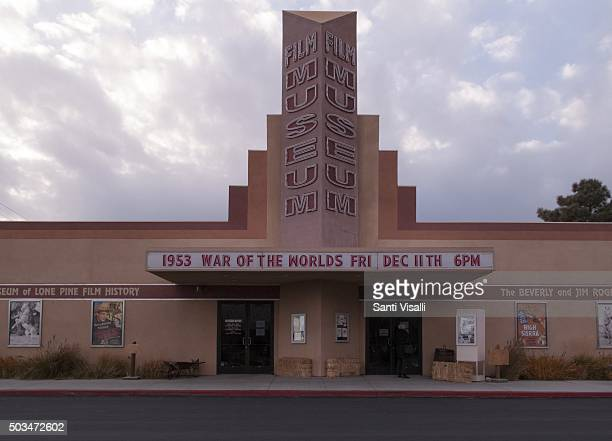 Exterior front view of the Beverly and Jim Rogers Museum on November 25 2015 in Lone Pine California