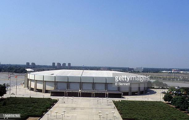 Exterior general view of the home of the New York Islanders in August, 1995 at the Nassau Coliseum in Uniondale, New York.