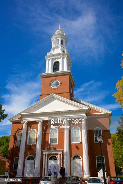 exterior, historic church on the green, new haven, connecticut - barry wood stock pictures, royalty-free photos & images
