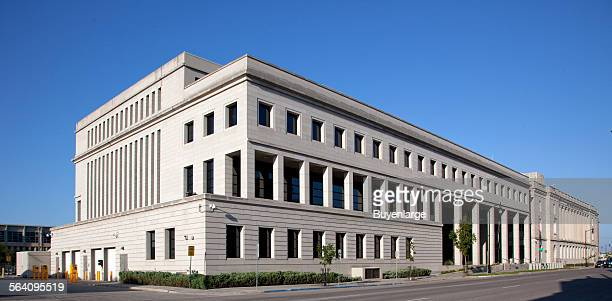 Exterior new addition Federal Building and US Courthouse Fargo North Dakota