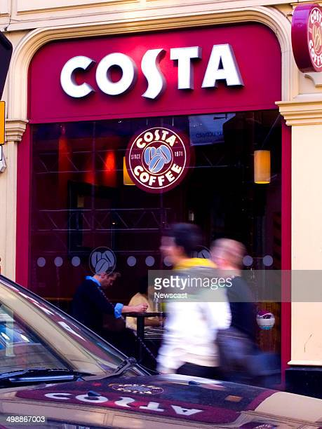 Exterior of a Costa Coffee cafe