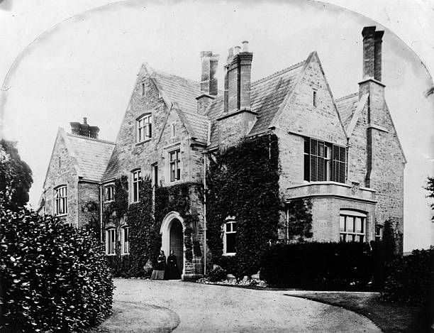 Exterior of a large Victorian household.