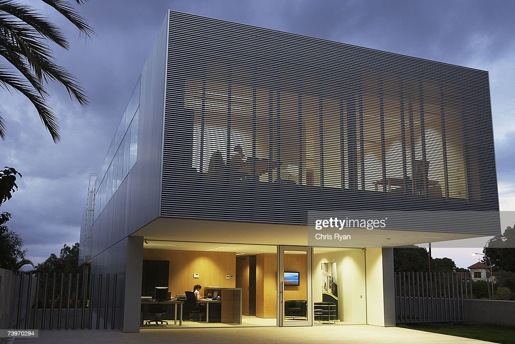 modern office exterior. Exterior Of A Modern Office Building : Stock Photo 4