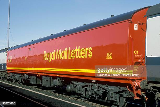 Exterior of a Post Office van number NSV 80313, by Chris Hogg, March 1987. Post Office trains had been used since the coming of the railways. The...
