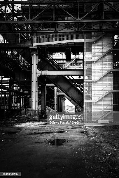 exterior of abandoned building - dortmund city stock pictures, royalty-free photos & images