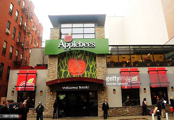 Exterior of Applebee's at the Green And EcoFriendly Applebee's Ribbon Cutting Ceremony at Applebee's on December 10 2012 in New York City
