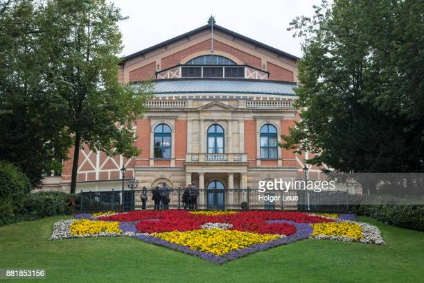 Exterior of Bayreuther Festspielhaus Bayreuth Festival Theater (dedicated solely to the performance of stage works by the 19th-century German composer Richard Wagner), Bayreuth, Franconia, Bavaria, Germany