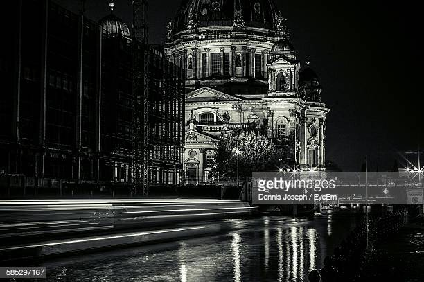 Exterior Of Berlin Cathedral At Night