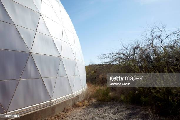 exterior of biosphere 2 - biosphere planet earth stock photos and pictures