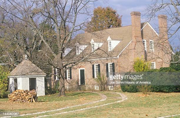 Exterior of birthplace of George Washington Colonial Beach Virginia