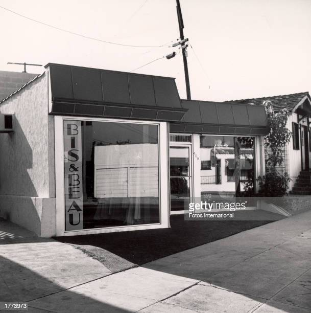 Exterior of 'Bis Beau' the boutique owned by Priscilla Presley West Hollywood California 1970s