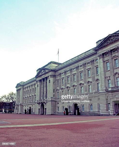 Exterior of Buckingham Palace residence and principal workplace of the monarchy of the United Kingdom Dated 2014