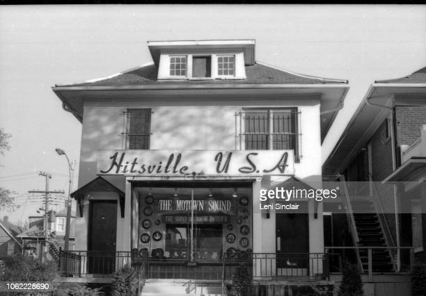Exterior of building that housed the record label Motown address 2648 W Grand Blvd Detroit Motown was also selftitled Hitsville USA Detroit Michigan...