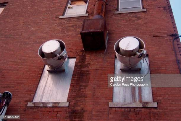 exterior of building vents - carolyn ross stock pictures, royalty-free photos & images