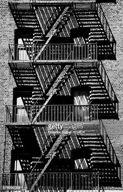 Exterior Of Building With Metallic Staircases