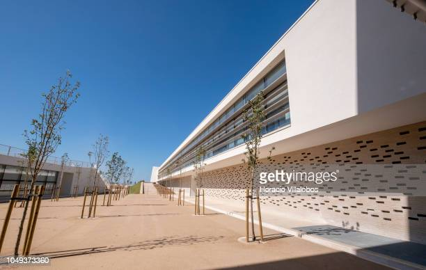Exterior of Cascais Academic Hall at NOVA School of Business and Economics new campus on October 04 2018 in Carcavelos Portugal Nova SBE is a leading...