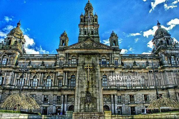 exterior of city chambers - george square stock photos and pictures