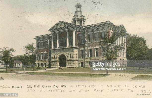 Exterior of City Hall, Green Bay, Wisconsin, 1906.