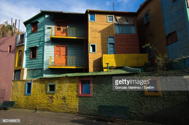 Exterior Of Colorful Houses In City