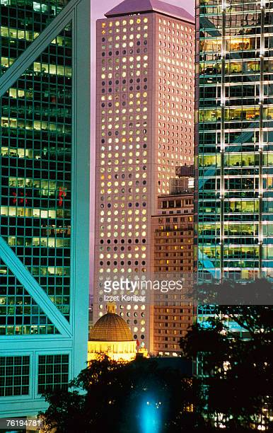 Exterior of corporate buildings, Hong Kong, China, North-East Asia