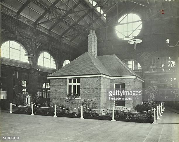 Exterior of cottage School of Building Brixton London 1913 Built inside a large hall Artist unknown