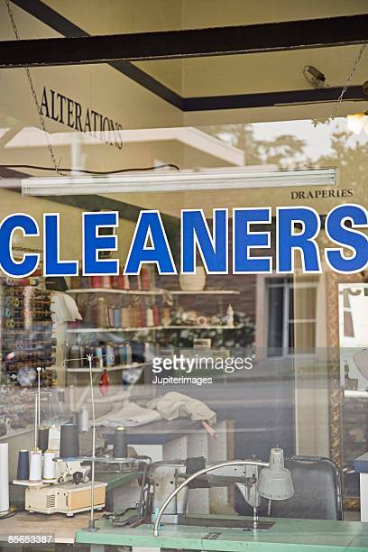 Exterior of dry cleaners