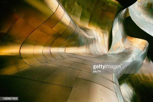 シアトルのemp博物館の外観 - エクスペリエンスミュージックプロジェクト ストックフォトと画像