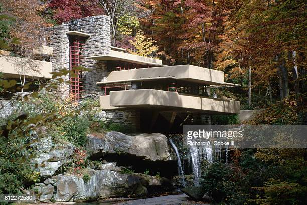 Exterior of Fallingwater by Frank Lloyd Wright