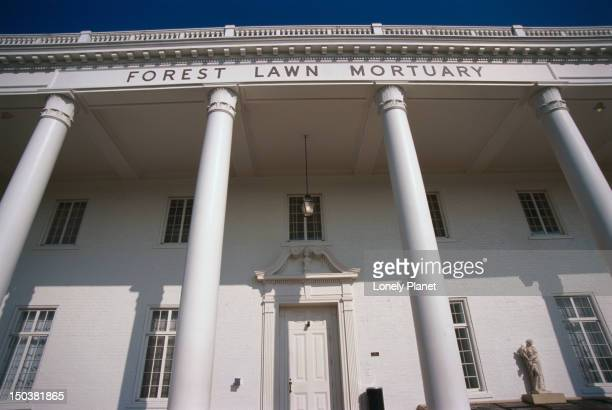 Exterior of Forest Lawn Mortuary.