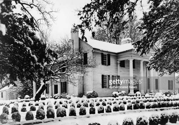 Exterior of Fort Hill the plantation home of American politician John C Calhoun US vice president Clemson South Carolina 1950s